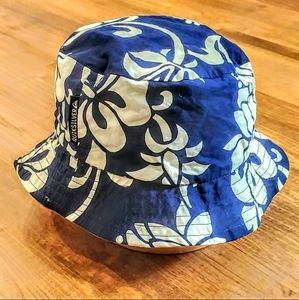 QUIKSILVER Reversible Hawaiian Print Bucket Hat
